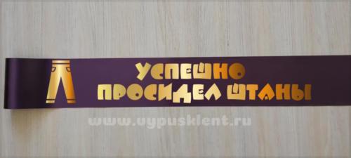"""Лента на выпускной """"Просидел штаны"""""""